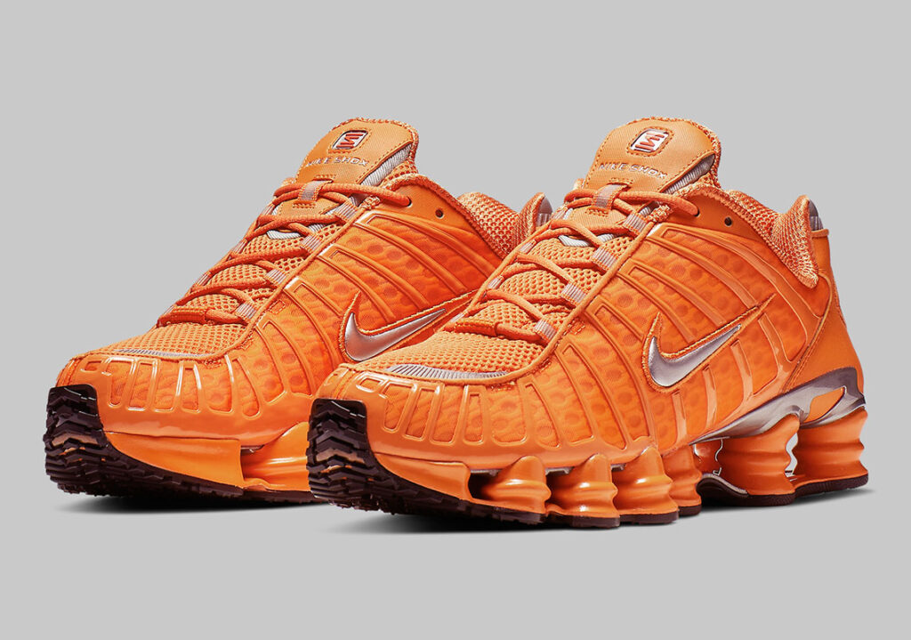 a465ffea118f Nike Will Release Their Shox In The  Tangerine  Colour Pack.